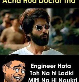 Kabir Singh Movie Funny Memes Image – Shahid Kapoor Funny Memes Image