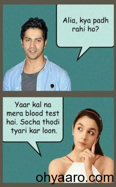 alia bhatt & VARUN DHAWAN FUNNY Jokes IMAGE