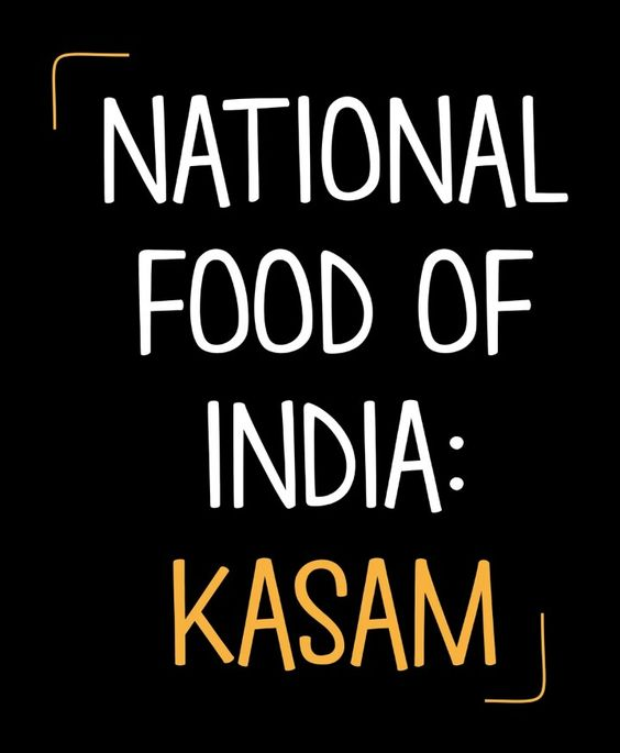 National Food of India - Funny Pic