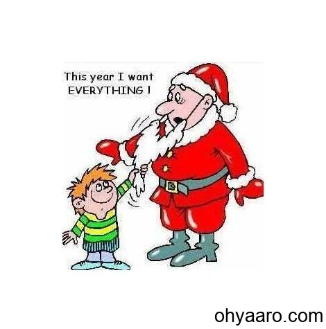Funny Baby pic with santa