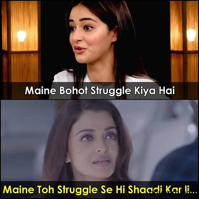 ananya pandey struggle memes