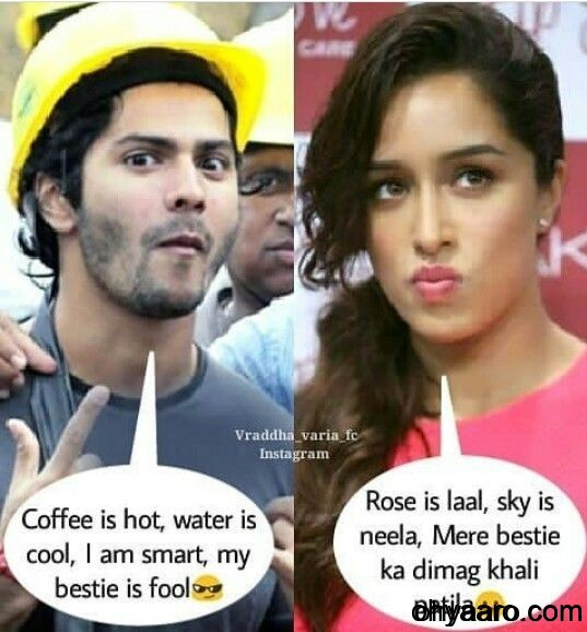 Varun Dhawan and Sharadha Kapuar Funny Pic