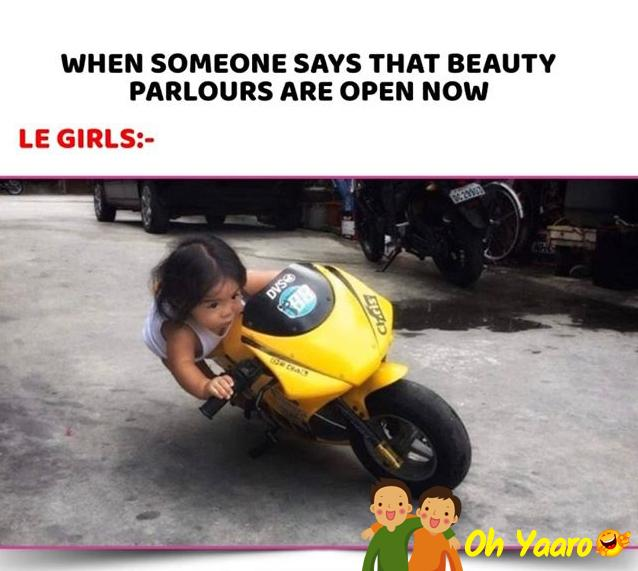 Beauty Parlour Funny Pic