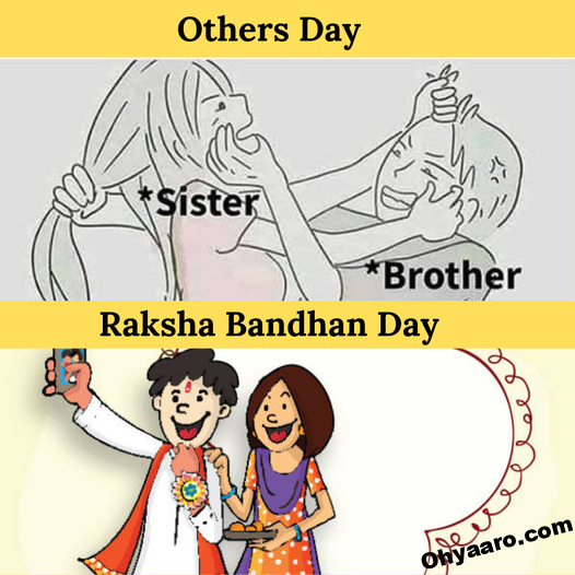 Raksha Bandhan Funny Photo