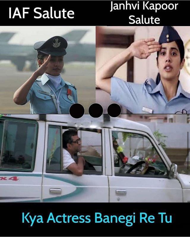 Janhvi Kapoor Memes Gunjan Saxena Janhvi Kapoor Funny Pic
