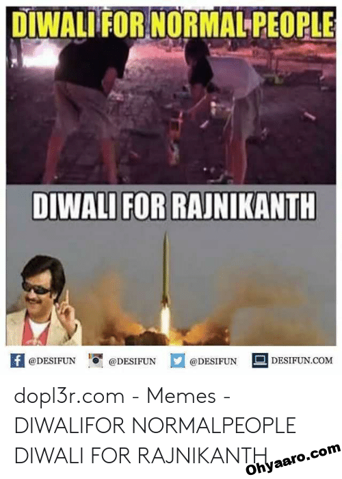 DIWALI FOR RAJNIKANT