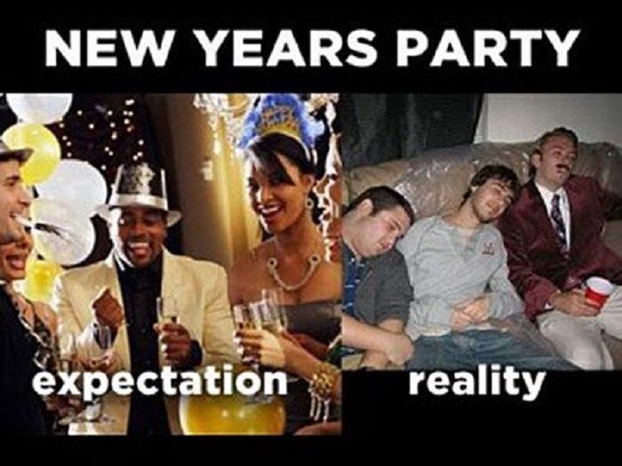 New Year Celebration Funny Photo