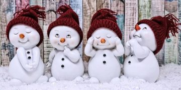 CUTE WINTER SNOW MAN