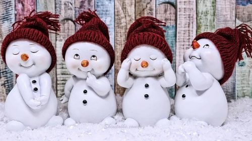 CUTE WINTER SNOW MAN