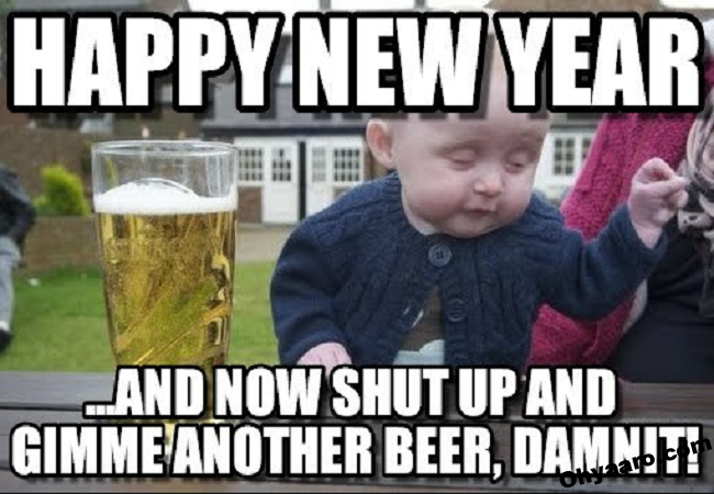 Download New Year Cute Baby Celebration Funny Images