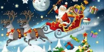 Santa Claus Funny Wishes Photo