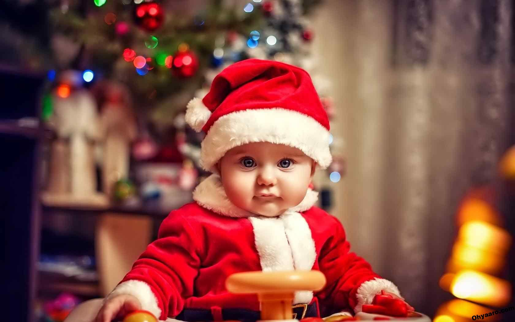 Cute Baby Santa Claus Images Download Merry Christmas Baby