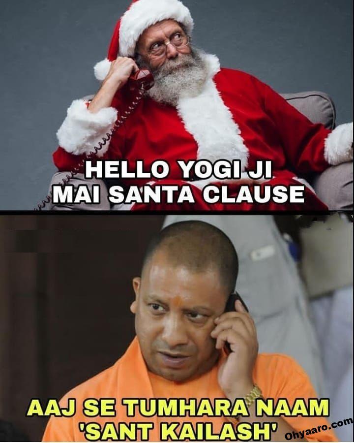funny santa claus and yogi memes