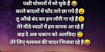 Good Night Funny Shayari