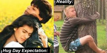 happy hug day Funny images