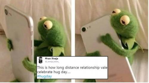 Hug Day Funny Memes Photo