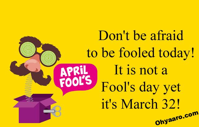 April Fool Quotes and Status for Whatsapp