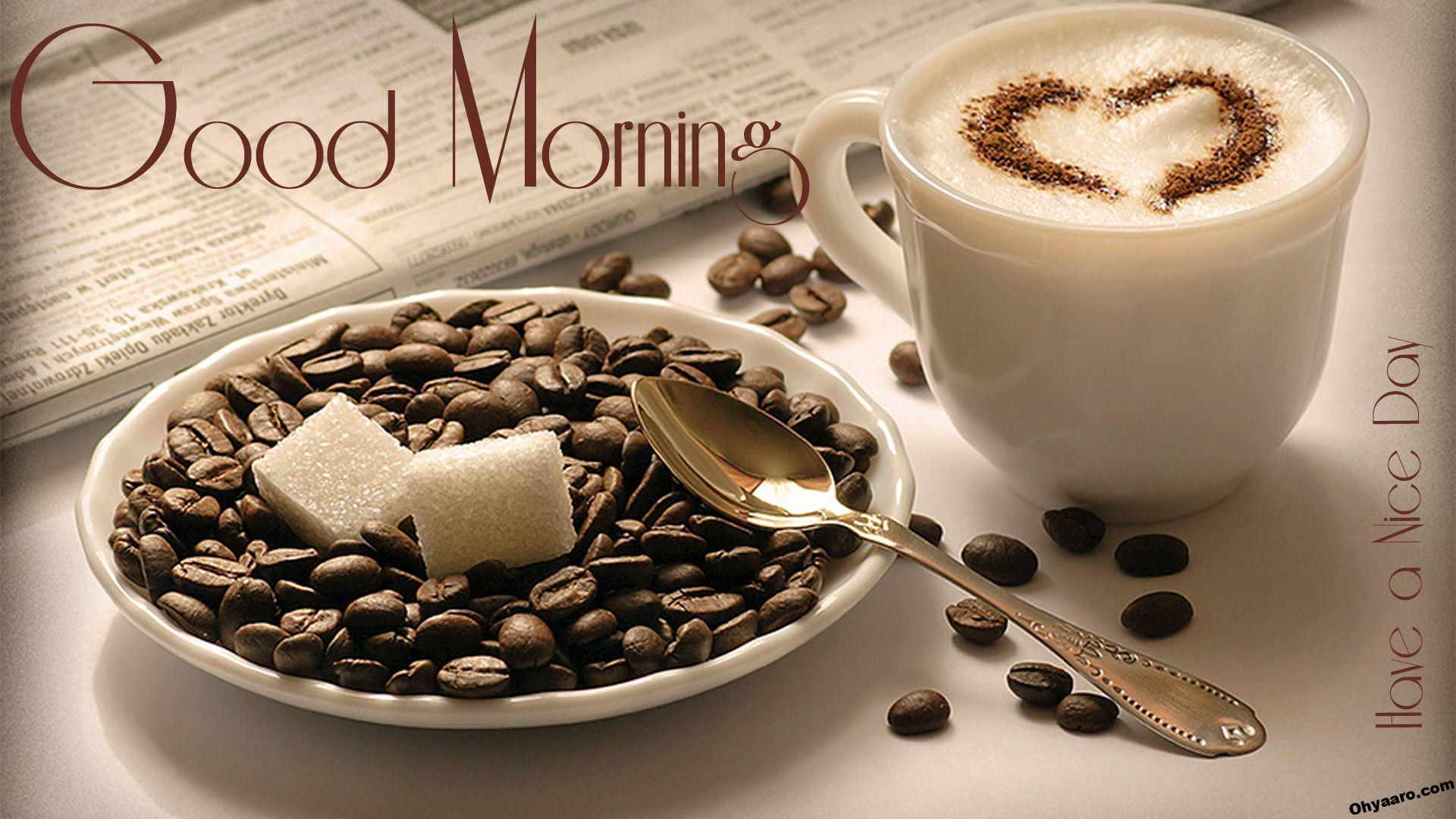 Good Morning Wallpaper with Coffee
