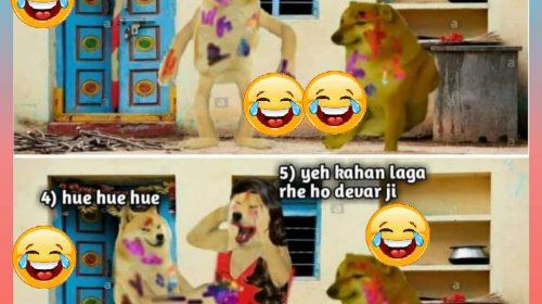 Happy Holi Funny Status Images