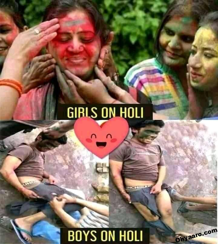 Holi Funny Memes pic