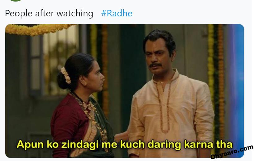 radhe movie memes
