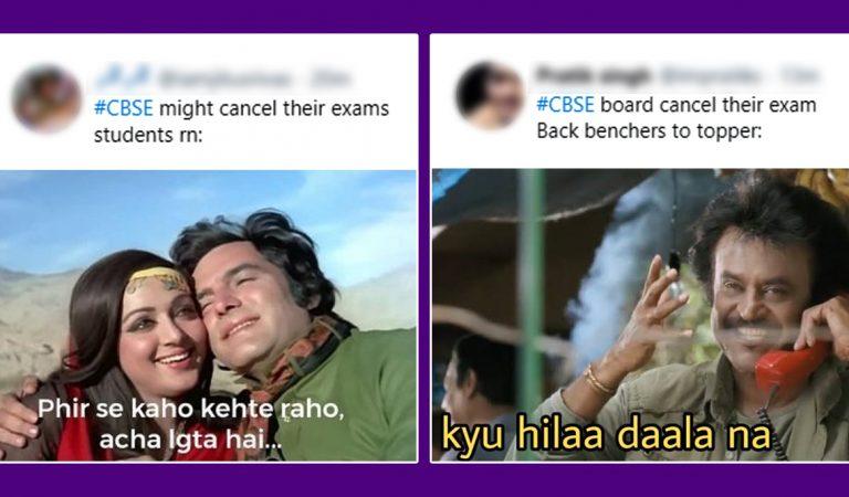 Board Exam Cancel Funny Memes
