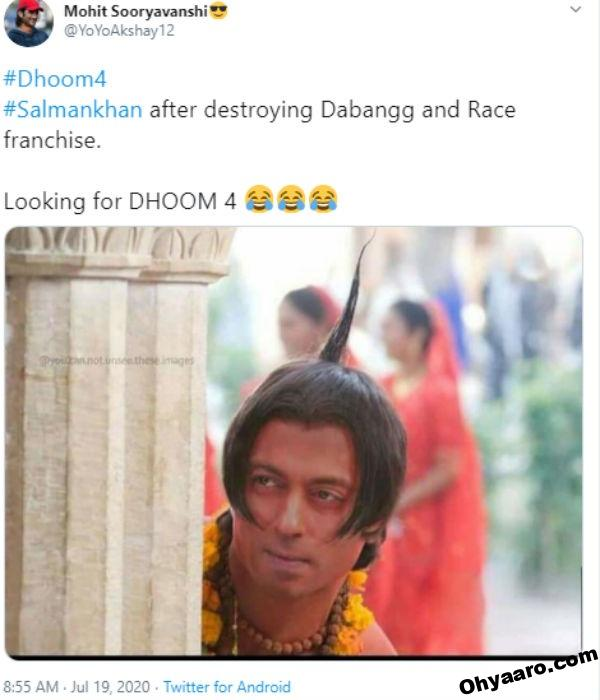 Latest Dhoom 4 Funny Memes