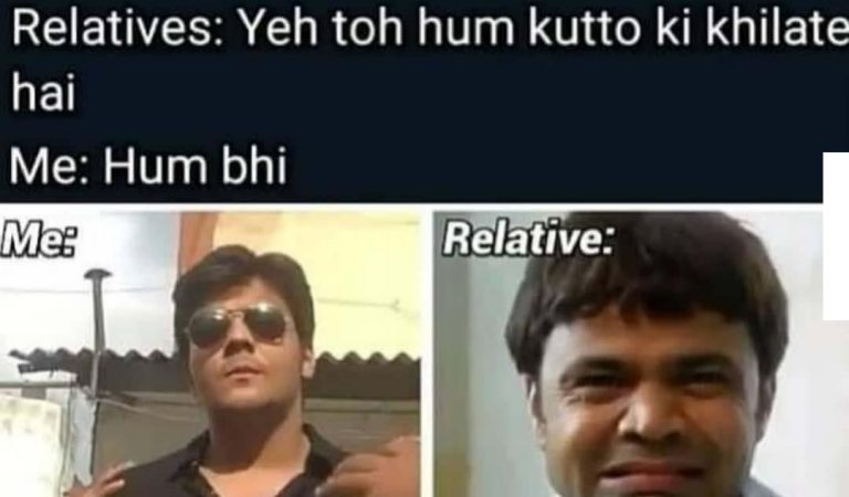 Funny Relatives Memes Picture For WhatsApp